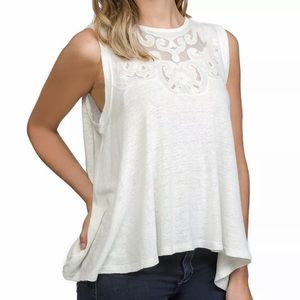 NWT Free People Lace Inset Tank Top